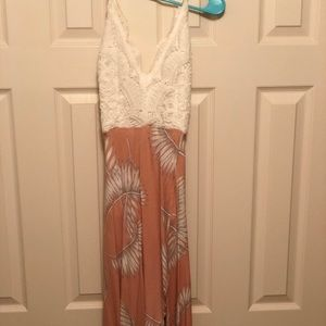 Dresses & Skirts - High low crochet top and floral bottom dress